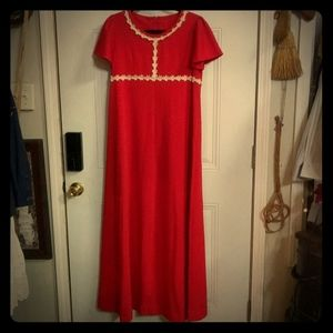 Vintage 1960s Red Christmas Dress